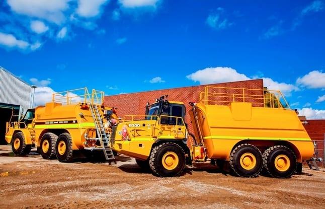 sandblasting and painting custom transport equipment